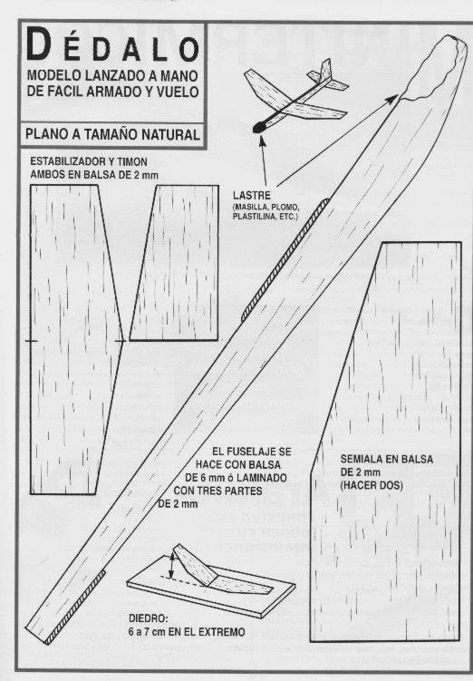 La Plata Avion Dedalo Madera Balsa Ideal Principiantes - $ 75,00 en ...