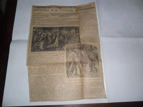 la prensa 1933 guerra milita george suministro municiones