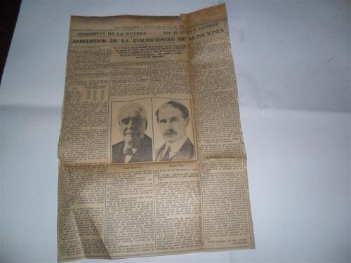 la prensa 1933 guerra milita lloyd george municion bonar law