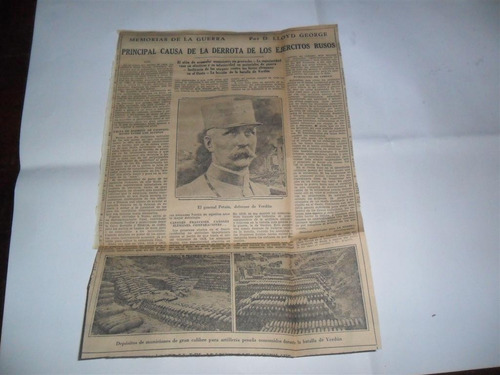 la prensa 1933 guerra milita lloyd george petain verdun ruso