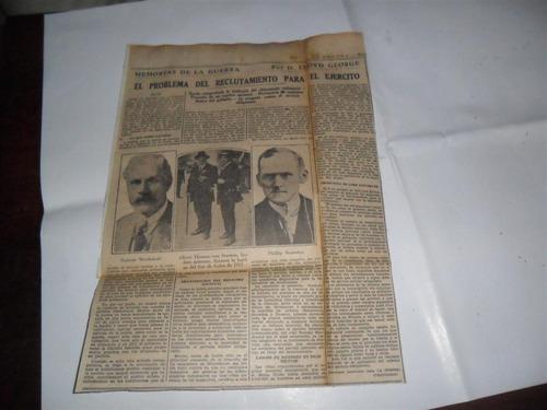 la prensa 1933 guerra milita lloyd george reclutamiento