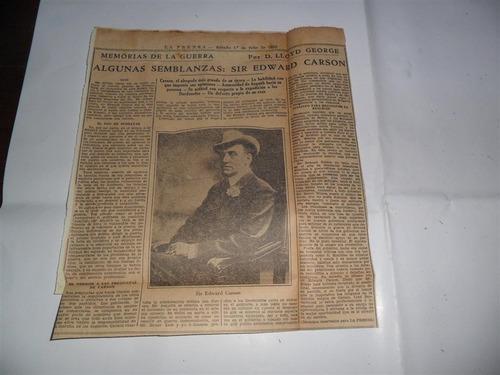 la prensa 1933 guerra milita lloyd george sir edward carson