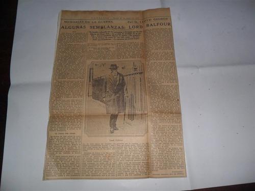 la prensa 1933 guerra militar lloyd george lord balfour