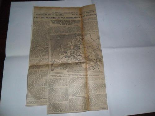 la prensa 1933 guerra militar lloyd george mapa plan balfour