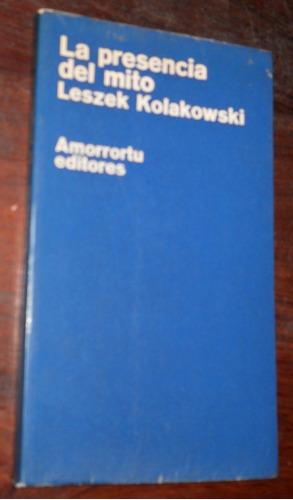 la presencia del mito. leszek kolakowski