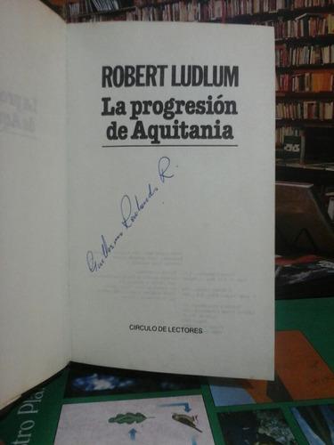 la progresión de aquitania, robert ludlum, novela.