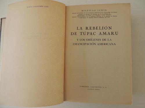 la rebelion de tupac amaru. boleslao lewin
