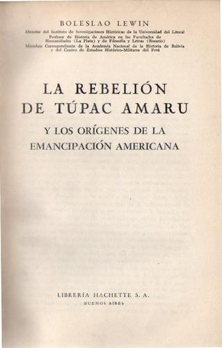 la rebelion de tupac amaru - boleslao lewin