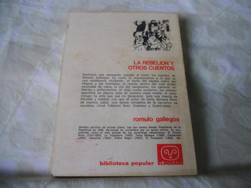 la rebelion y otros cuentos (romulo gallegos)