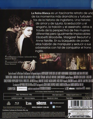 la reina blanca the white queen la serie blu-ray