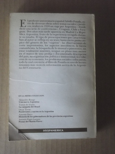 la republica argentina adolfo posada