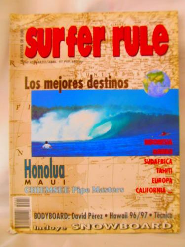la revista de surf surfer rule nro 42 marzo/abril 97