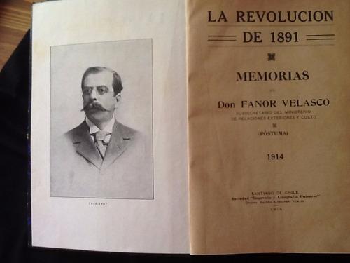 la revolucion de 1891, memorias fanor velasco