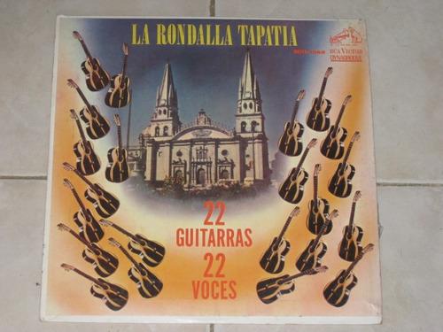 la rondalla tapatia 22 guitarras voce disco lp acetato vinil