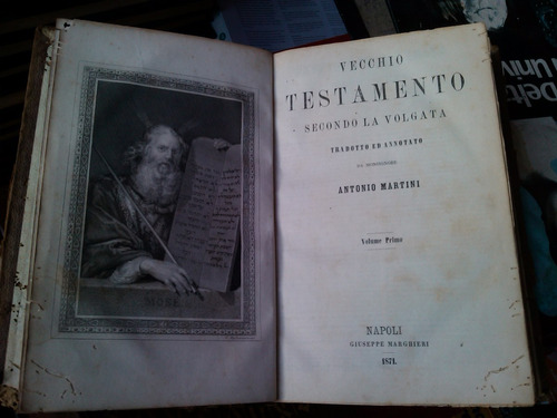 la sacra bibia  biblia  1871  vulgata latim / italiano