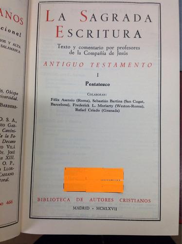 la sagrada escritura. antiguo testamento l pentateuco