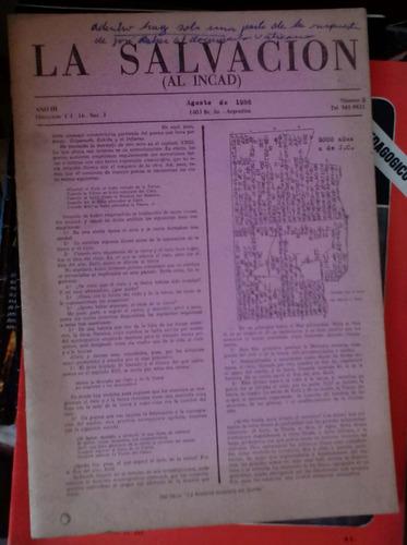 la salvacion al incad - ago 1986 bs as 42p español + 42p ara