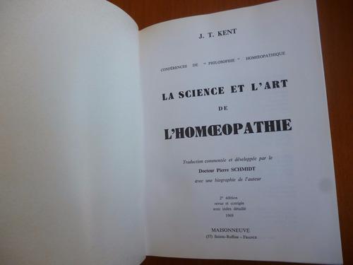 la science et l'art de l'homéopathie  maisonneuve homeopatia