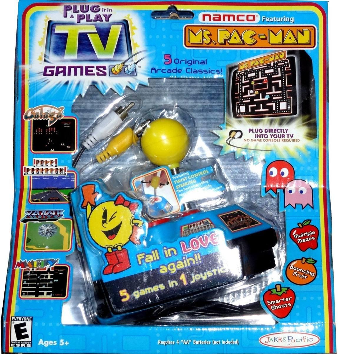 La Senora Pac Man Plug And Play Con 5 Juegos Arcade Clasicos