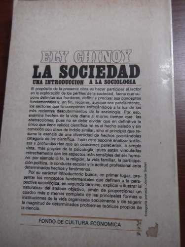 la sociedad una introduccion a la sociologia ely chinoy fce