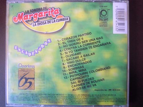 la sonora de margarita la diosa de la cumbia cd encadenados
