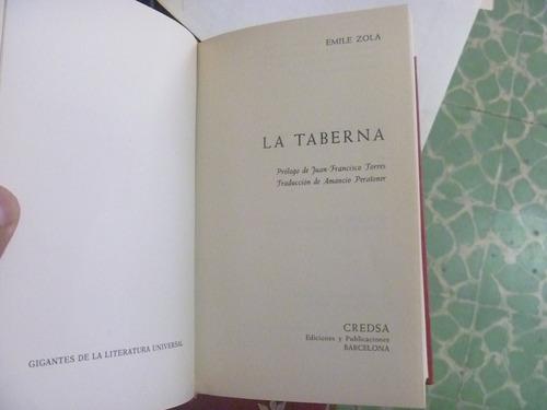 la taberna. emile zola. credsa, barcelona, 1972