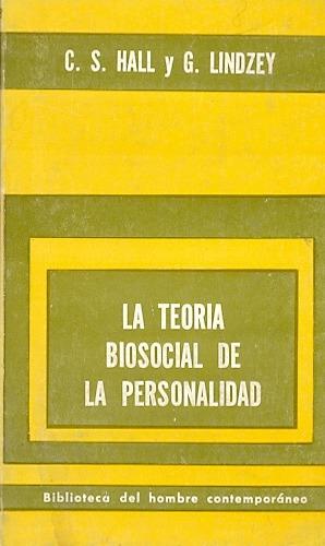 la teoria biosocial de la personalidad-hall y lindzey-libros
