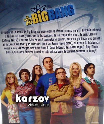 la teoria del big ban boxset temporadas 1 - 6 en  blu-ray