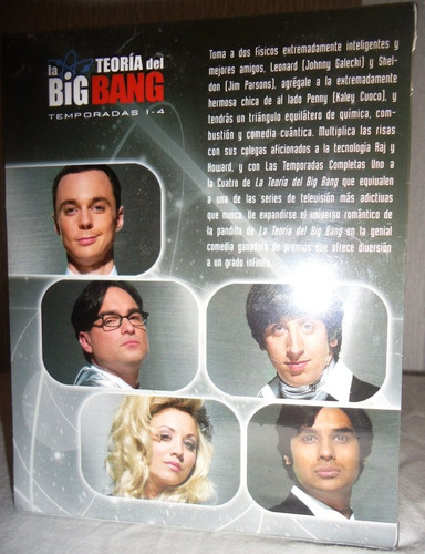 la teoria del big bang boxset temporadas 1 - 4 blu-ray
