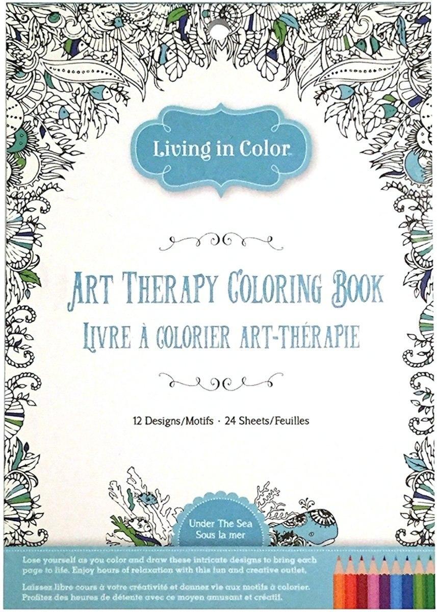 La Terapia Del Arte Bajo El Mar Para Colorear Libro - Océano ...