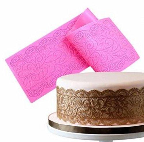 la torta del cordón de silicona del molde mats pasta de azú