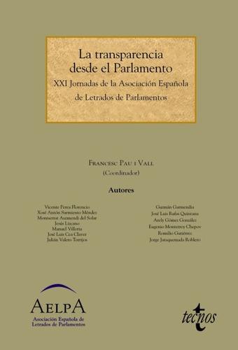la transparencia desde el parlamento(libro ciencias política