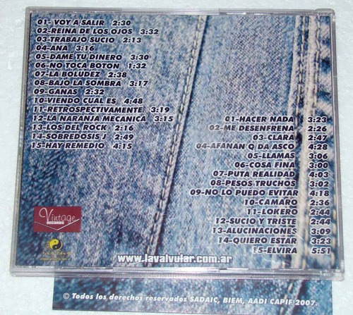 la valvular garaje cd doble argentino
