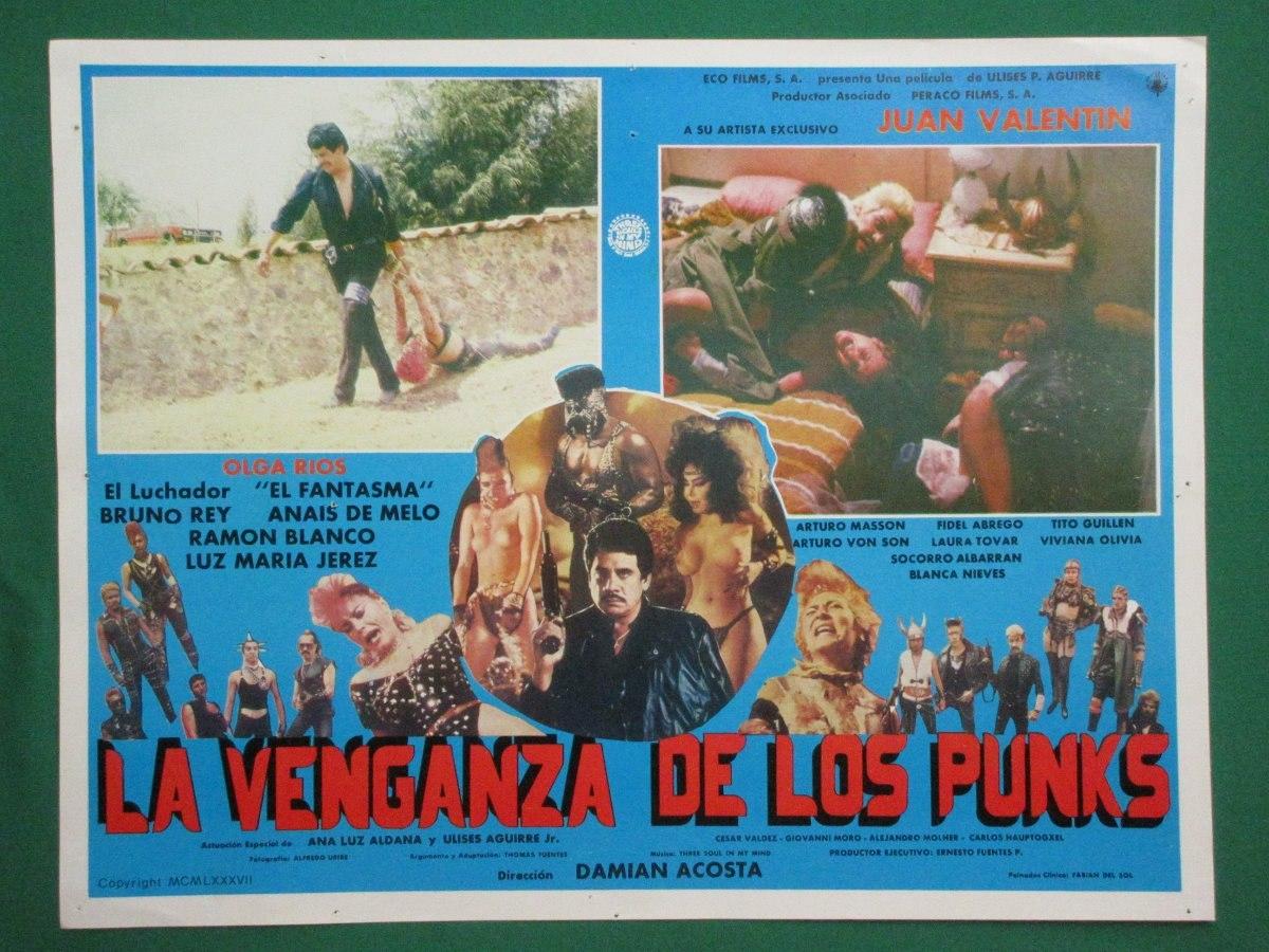 La Venganza De Los Punks Sexy Topless Orig Cartel De Cine 6 8000