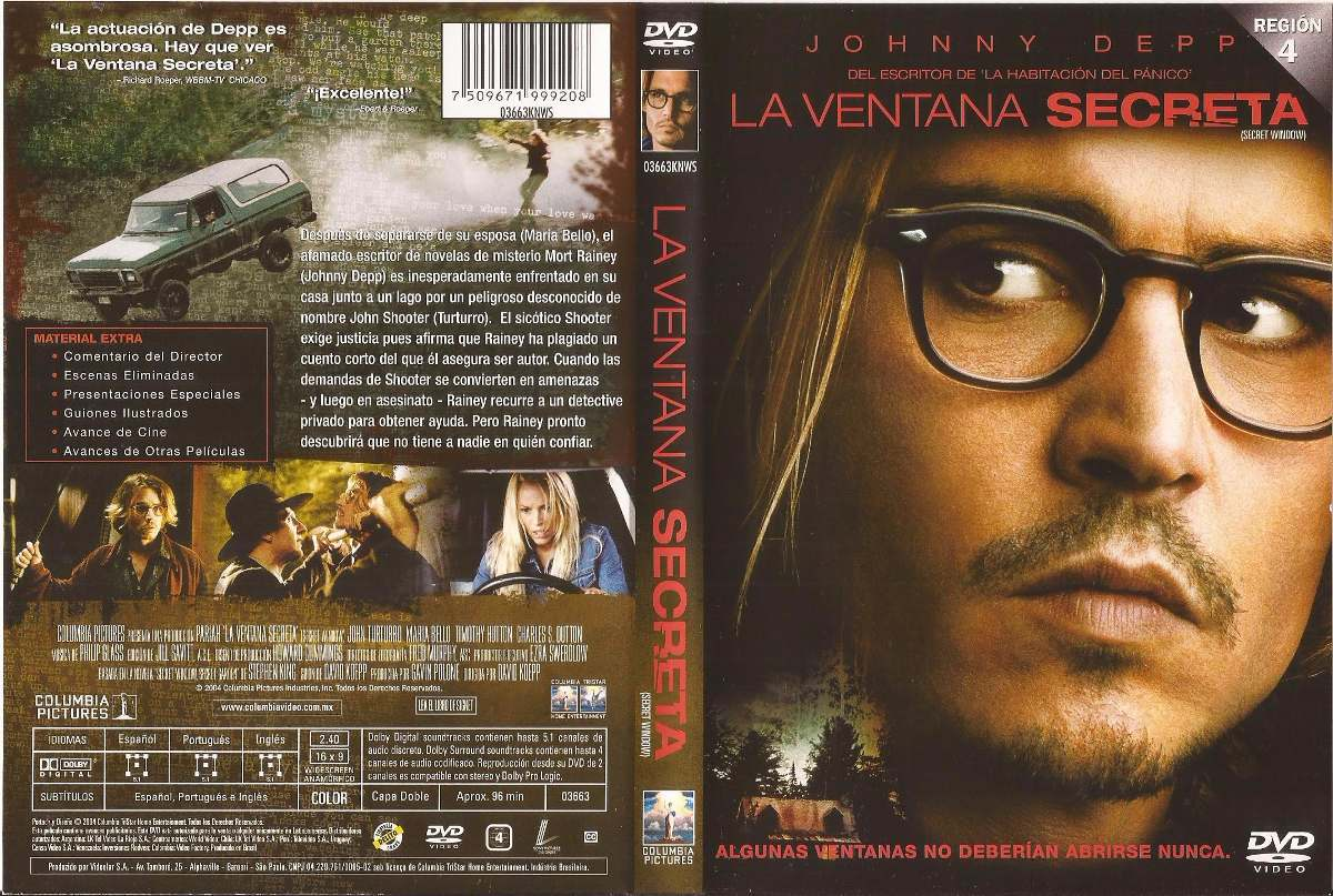 La Ventana Secreta Dvd Johnny Depp John Turturro Maria Bello 90