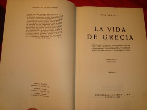 la vida de grecia por will durant- tomo i