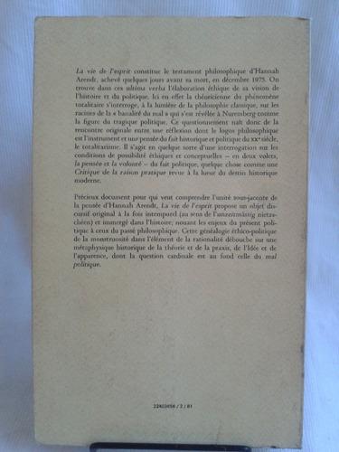 la vie de l´ esprit 1 la pensée hannah arendt puf en francés