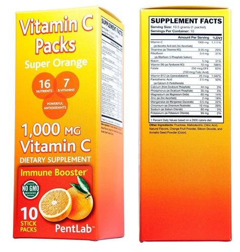 la vitamina c super pack aroma de naranja 10 palillo d...