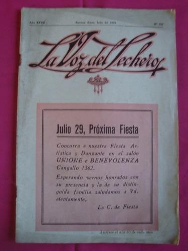 la voz del lechero - n° 323 - julio de 1939