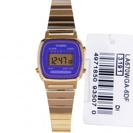 ec8a973d779 La670wga-6df Relógio Feminino Casio Mini La670 100% Original - R ...