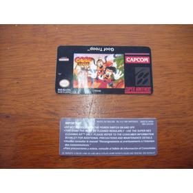 Label Jogo Super Nintendo Kit 5 Pares Goof Troop