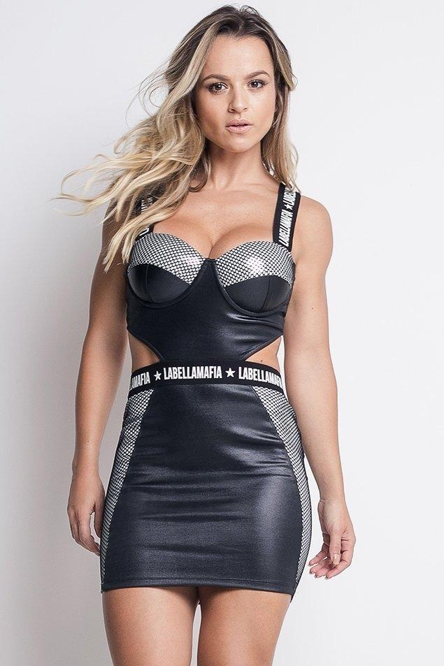 e2bdc1b21 Labellamafia Vestido Mujer Noche Con Escote   Extra Glow -   2.800 ...