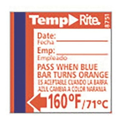 labels taylor 8751 temprite 160 ° f lavavajillas de prueba