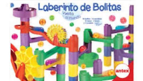 laberinto de bolitas circuito vuelta al mundo antex july toy
