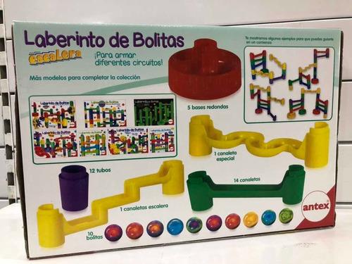 laberinto de bolitas escalera de antex july toys