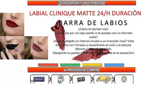 labial clinique matte 24/h duracion