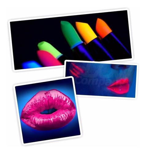 labial fluor x6 cotillon luminoso maquillaje cumple 15 boda