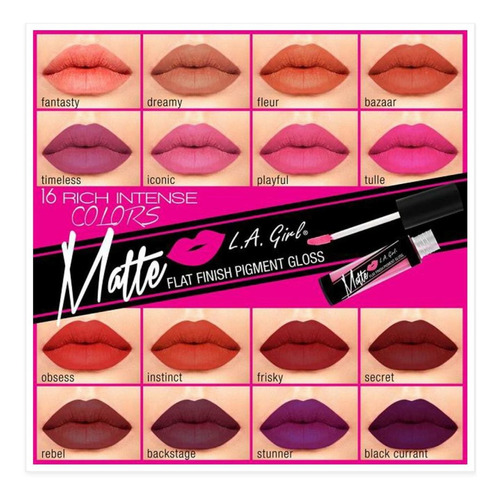 labial indeleble l.a. girl matte gloss  $55