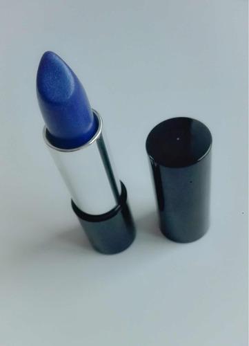 labial kiko milano, metal, tono 11, azul