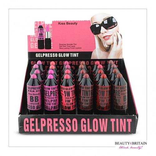 labial kiss beauty bb lipstick glow gel expresso